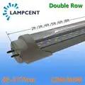 Bombilla de tubo LED T8 doble fila 2FT 3FT 4FT 5FT 6FT G13 lámpara de Base LED Luz de tienda 50/ 70/100/paquete