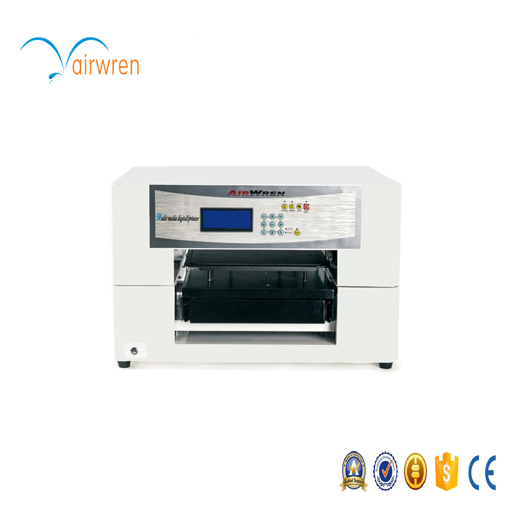 High resolution 6 color flatbed digital inkjet canvas printer T shirt printing machine