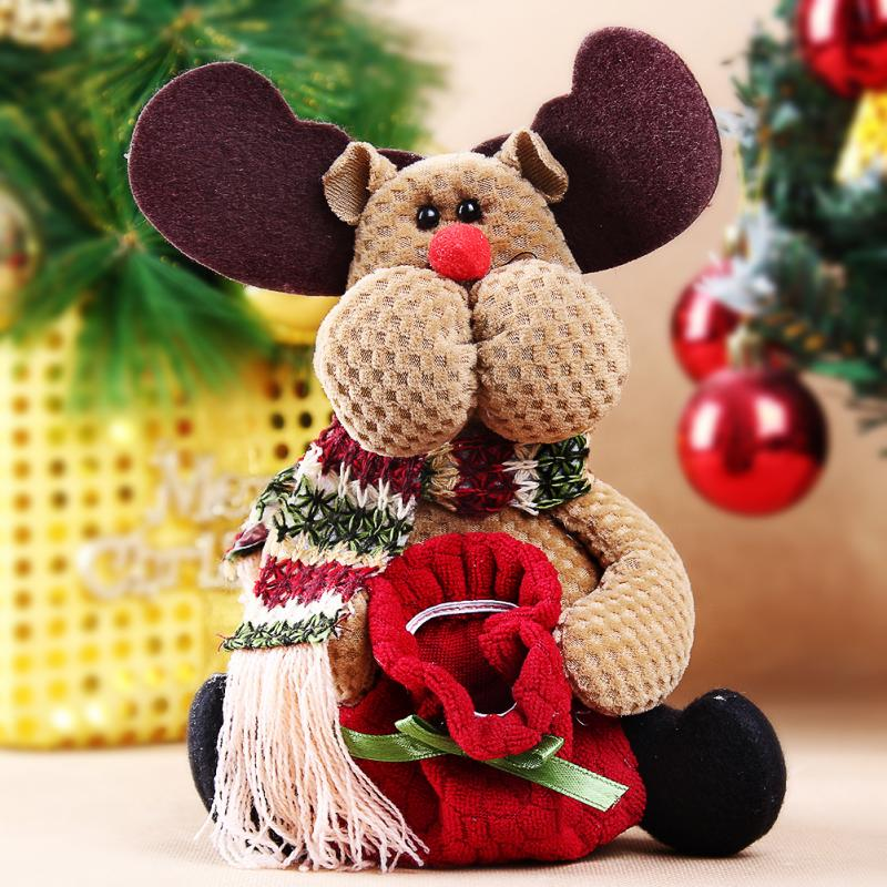 1pc Table Ornament Reindeer Design Indoor Christmas Standing Decoration Supplies Christmas Tree Ornament