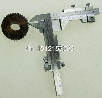 M1-26 Metal Gear Tooth Vernier Caliper With Metric Gauge, Carbide Tips