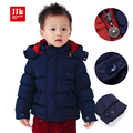Детские зимние пальто 2015 марка мальчиков одежда зимняя верхняя одежда и пальто soild новорожденных парка пальто с капюшоном ребенка и куртка младенца одежда