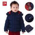 Capa del invierno del bebé 2015 niños de la marca de invierno ropa de abrigo y capa soild recién nacido abrigo parka con capucha bebé chaqueta parka y infantil ropa