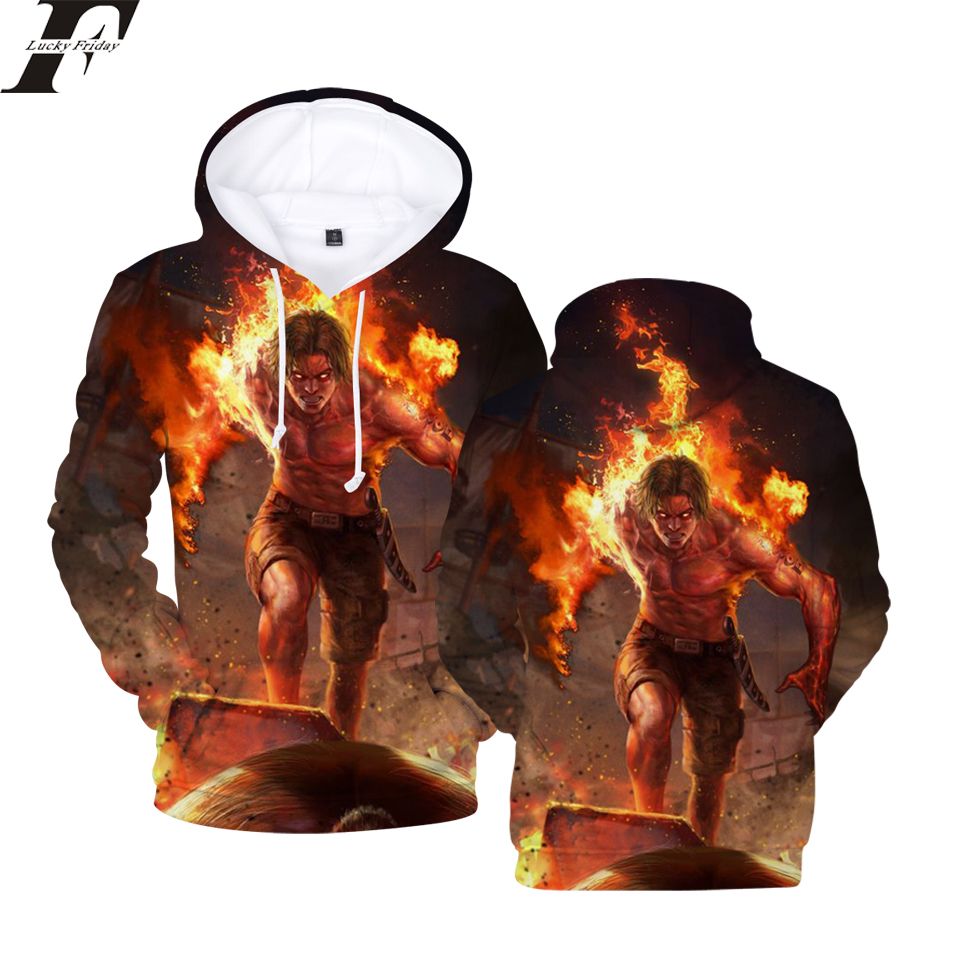 LUCKYFRIDAYF 2018 One Piece New 3D printed Hoodie Sweatshirt Women/Men Hoodies Anime moletom masculino Casual Clothes Plus Size