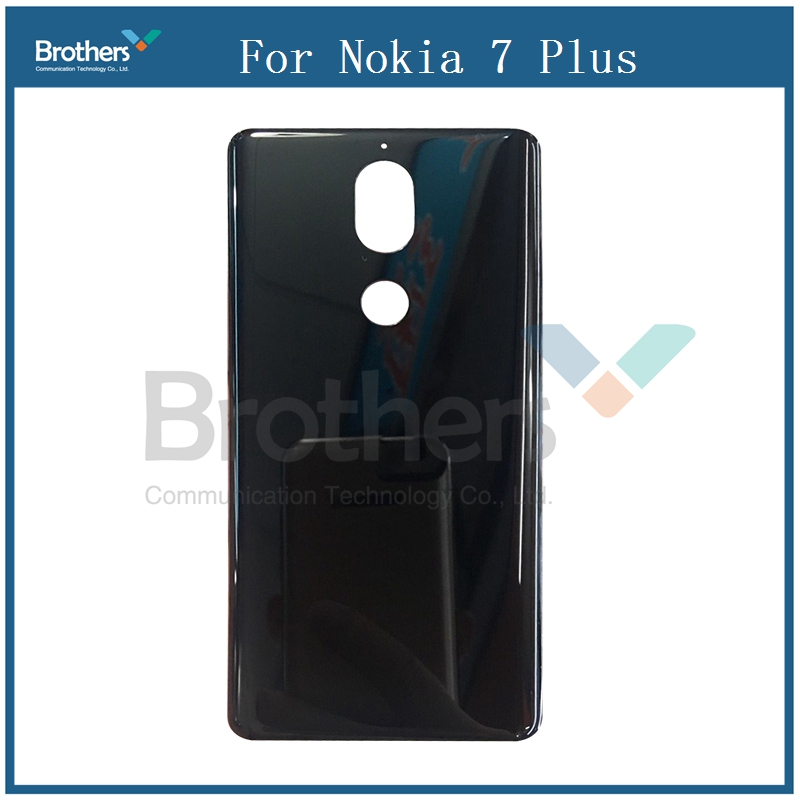 For Nokia 7 Plus Battery Cover Rear Door Back Glass Case Phone Housing Replacement Parts For Nokia 7 Plus