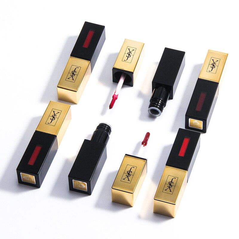 Cream Lip Stain High Impact Shine Liquid Lip Tint Liquid Lipstick Waterproof Long Lasting Moisture Lip Stick Gloss Makeup