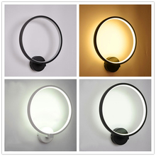 Northern European style wall lamp LED bedroom headlamp stair hall acrylic circular resin living room