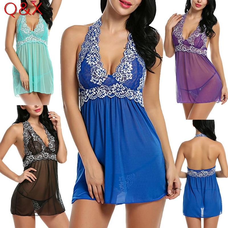 559e16691 DL9 2017 ريال داخلية أزياء المرأة جنسي ساخن سيدة ليوبارد بيجامة الدانتيل  تنورة مثير زائد الحجم ملابس + g