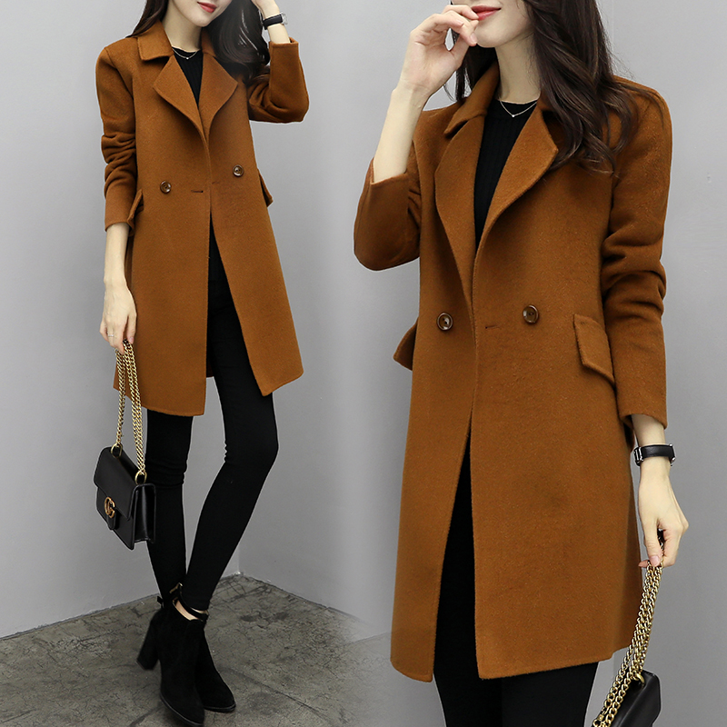 2019 hot sale woman wool coat high quality winter jacket. Black Bedroom Furniture Sets. Home Design Ideas