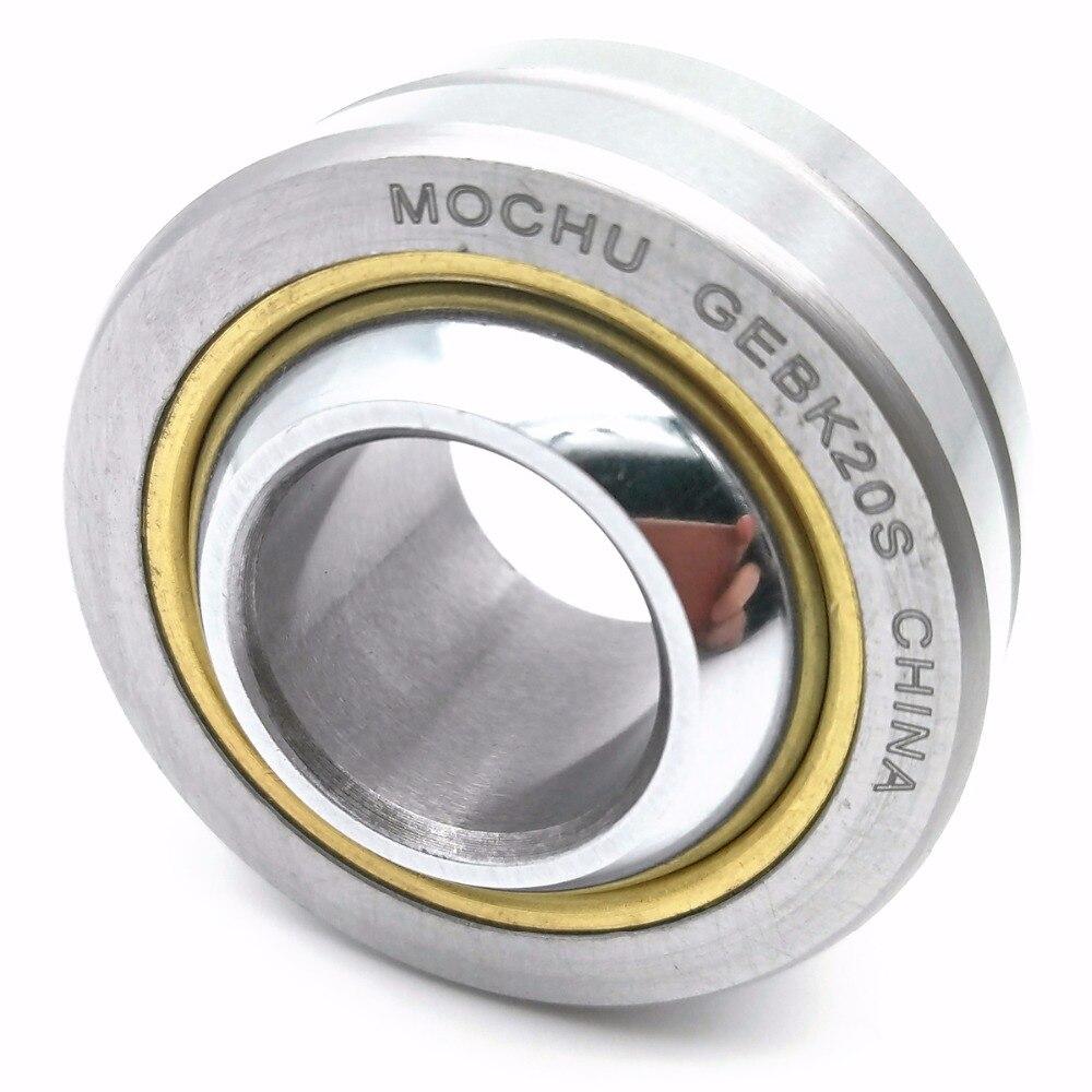 1PIECE MOCHU GEBK20S 20X46X25X18 PB20 PB-20 GEBK PB Radial Shaft Spherical Plain Bearings With Self-lubrication