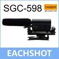 Takstar sgc-598, takstar sgc-598 condensador gravação do microfone microfone hotshoe para captação de entrevista filme à prova de choque para dv dslr