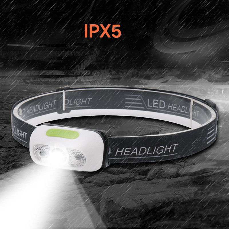 Image 5 - Mini Rechargeable LED Headlamp Body Motion Sensor Headlight Camping Flashlight Head Light Torch Lamp With USB-in Headlamps from Lights & Lighting