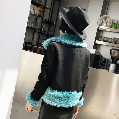 2017 New Style High-end Fashion Women Faux Fur Coat Only in ANGLING C19