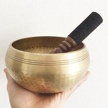 Гималайский ручной гонг, чакры, медитация чаша декоративная-настенная-посуда Йога тибетский буддийский латунная Поющая чаша