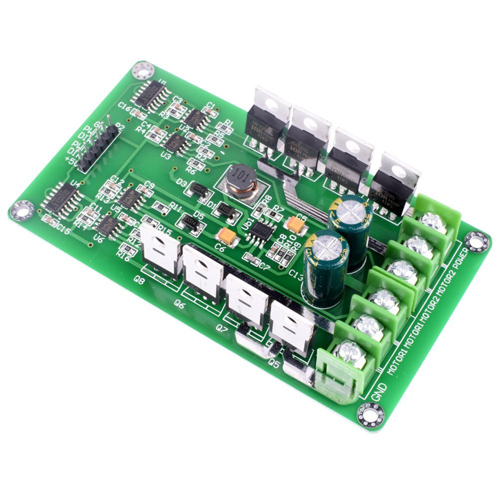Dual Motor Driver Module,DC H-Bridge 3-36V 15A PWM Module Circuit Board MOSFET Driver Motor Driving Board for Robot Smart Car цены