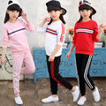 2 Piece/set Fashion Kids Girls Clothes Sets Casual Long Sleeve Shirt + Long Pants Children Clothing
