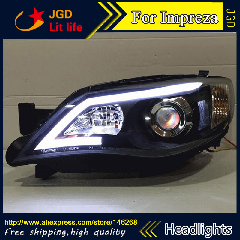 Auto Part Style LED Head Lamp for Subaru Impreza WRX STI led headlights drl hid Bi-Xenon Lens low beam 02 03 impreza wrx sti gda gdb gen 7 ju headlights eyebrows eyelids
