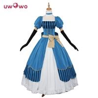 Elizabeth Ethel Cordelia Midford Cosplay Black Butler Book Of The Atlantic Anime Lizzy Blue Dress UWOWO