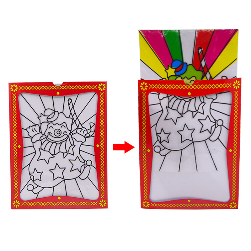 Large Size Clown Color Changing Card Magic Circus Frame 20.3*26.5cm Illusions Street Mentalism Stage Props Children Tricks Toys