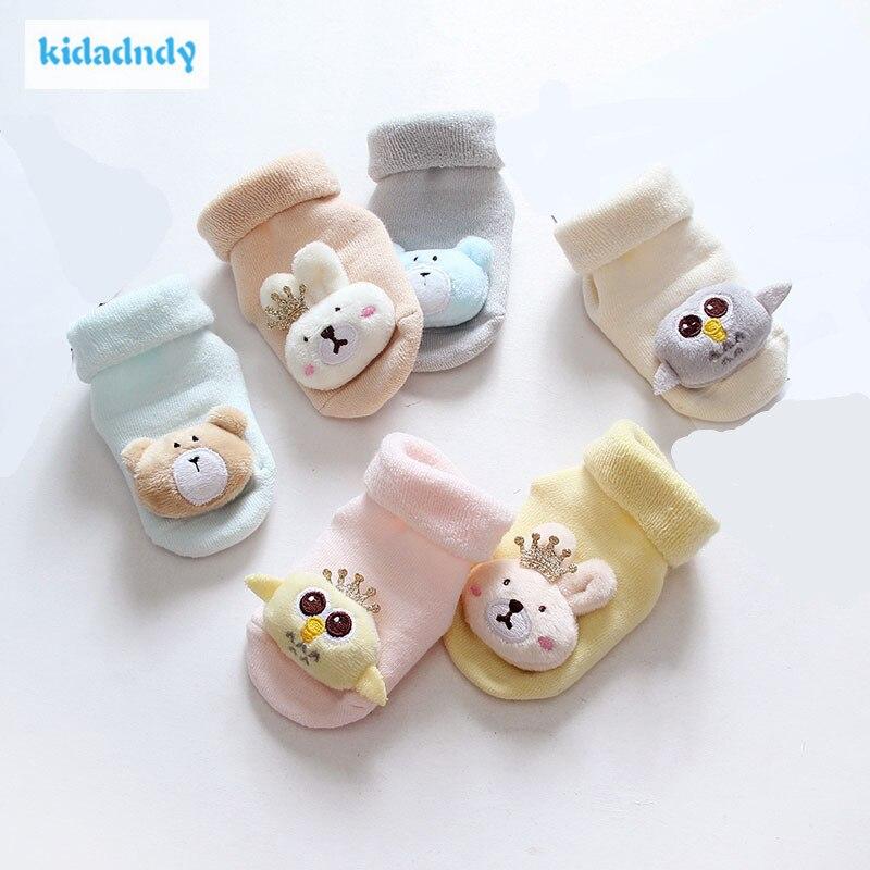 Baby Non-slip Cartoon Socks Newborn Baby Thicken Breathable Cotton Socks GXY254 LM