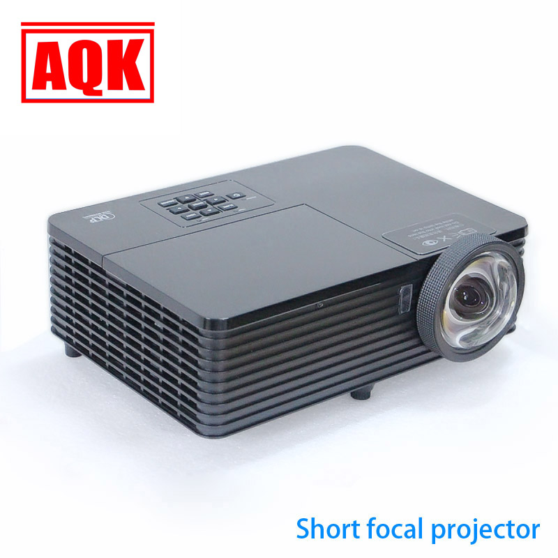 Top Quality ! Full HD 6000Lumens 3D Ultra Short throw HDMI Beamer 1080P XGA Video Digital Education DLP Projector proyector new short throw 300inch dlp hologram 3d projector hd pc usb vga daylight 1080p rear video beamer lamp for education school