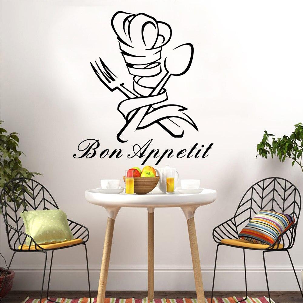 Kitchen wall art Bon Appetit ! Wall Quote Sticker Art Home