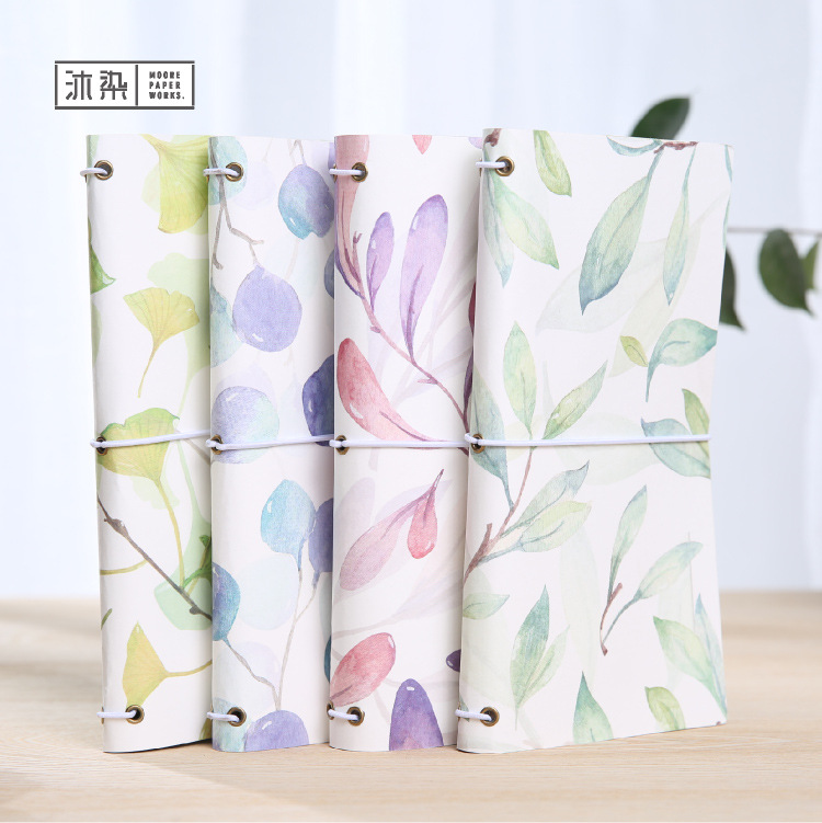 Four Season Leaves Japanese Kawaii Cute DIY Notebook Monthly Planner Daily Agendas Book Bound Travel Journal Diary Gifts caderno пена монтажная mastertex all season 750 pro всесезонная