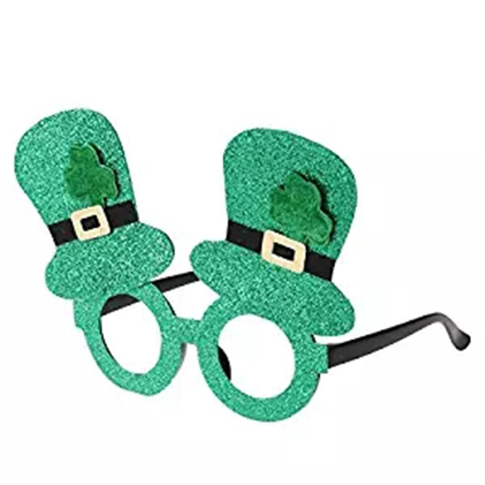Men's Glasses Competent 10 Pcs Unisex St Patricks Day Funny Shamrock Glitter Hat Glasses Leprechaun Lensless Novelty Party Supplies Accessory Green