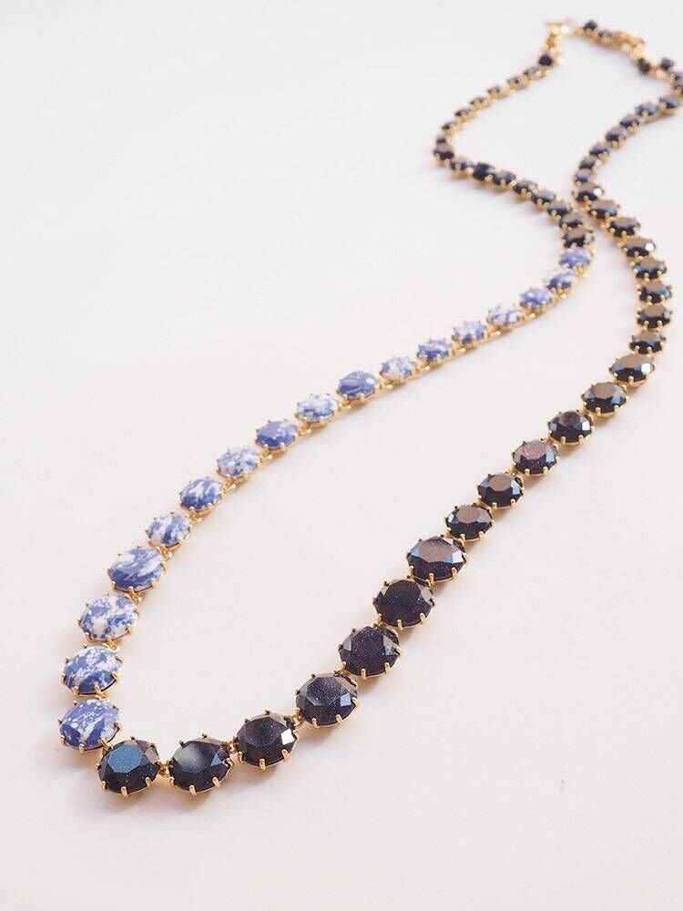 2018 Amybaby Colorful Stone Faceted Glass Crystal Womens Long Necklace Hook Earrings Adjustable Ring For Party