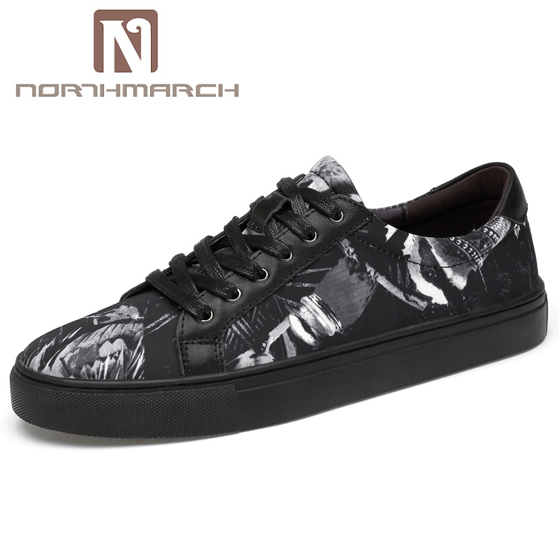 NORTHMARCH Mens Casual Shoes Hot Sale Mens Shoes Genuine Leather Breathable Outdoor Casual Shoes Zapatillas Hombre Deportiva northmarch man shoes genuine leather mens sneaker luxury brand mens trainers footwear zapatillas hombre casual mocasines hombre