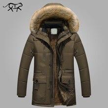 9a18e16d404 Новая брендовая одежда зимняя куртка мужская модная зимняя парка мужская с  меховым капюшоном повседневные теплые мужские пальто .