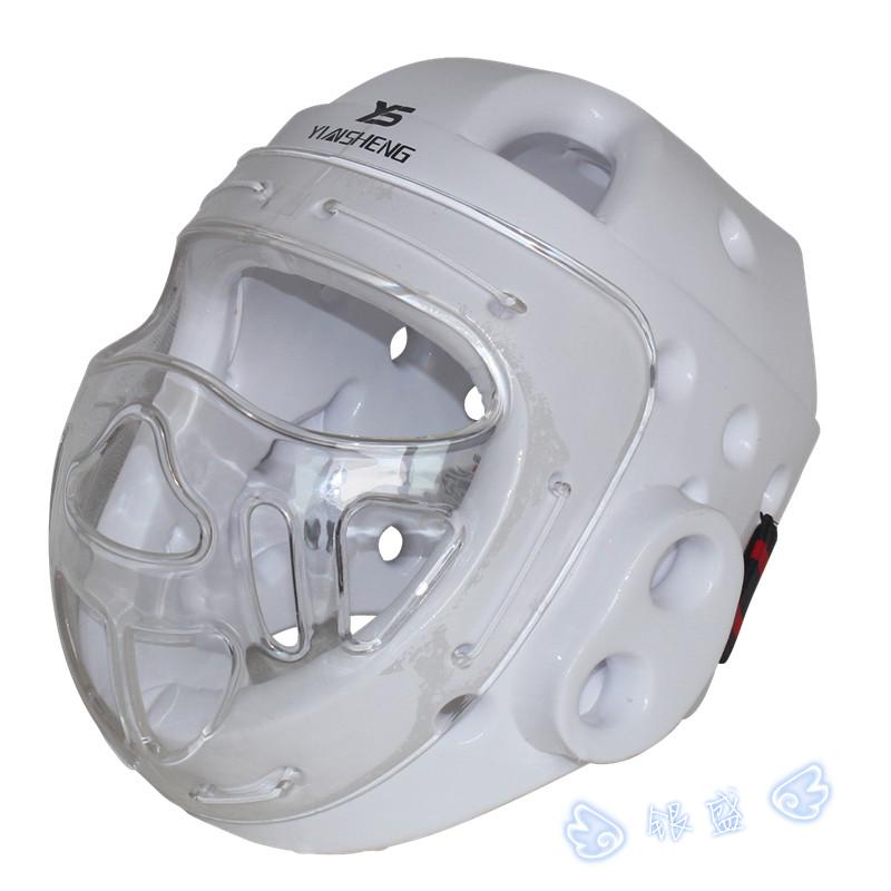 White Adult child Taekwondo Helmet Karate Kickboxing Sanda Head Protection with face mask capacete ITF WTF Training Protector