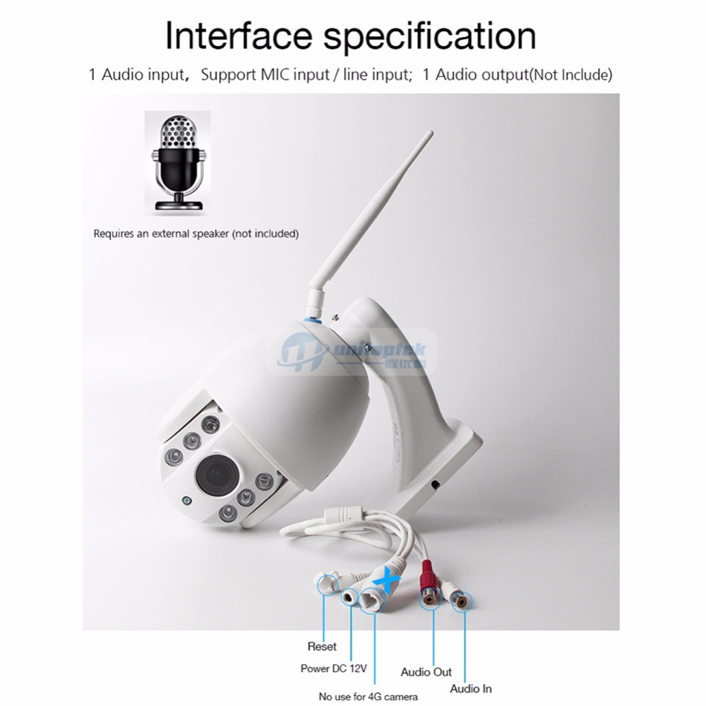 HD 3G 4G SIM Card PTZ Speed Dome IP Camera 960P 1080P Outdoor 5X Optical Zoom SD Card IR 60M Infrared CCTV P2P Camera