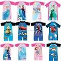 NEW Kids Ropa de Moda traje de Baño Erupción Guardias Rashsie Rashsuit Niños Nadador 8 unids/lote
