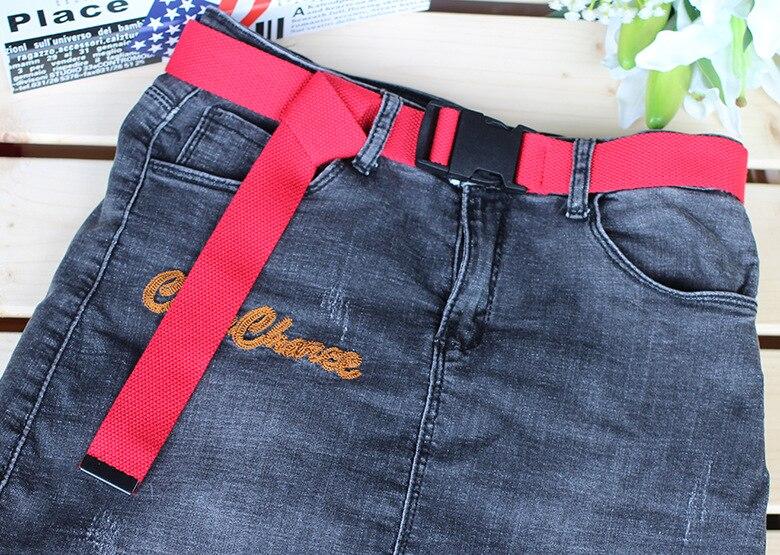 Женский ремень Харадзюку, красный, с буквенным принтом, модный, унисекс, двойное d-образное кольцо, Холщовый ремень, женские длинные ремни для джинсов