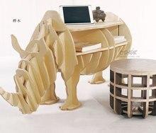 European Creative rhino Side Table Nordic style log home furnishing decoration hotel restaurant bar decor free
