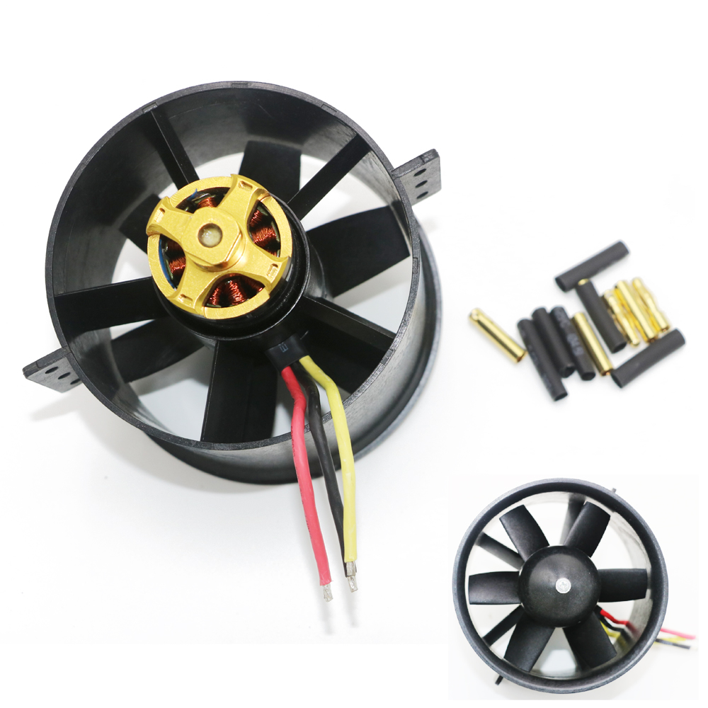 1 set 90mm 6 Blades Ducted Fan EDF with QF3530(2830) 1750KV 3KG Brushless Motor for RC  Airplane 5 blade 64mm outrunner ducted fan 4300kv brushless motor 30a esc for lipo rc jet edf plane airplane fan
