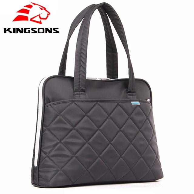 Kingsons Luxury Handbags Women Bags Designer Waterproof 14 Inch Laptop Bag Female Totes Las Messenger