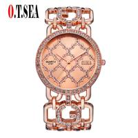 O T Sea Brand Women Watches Stainless Steel Fashion Ladies Dress Quartz Watch Luxury Wristwatches Reloj
