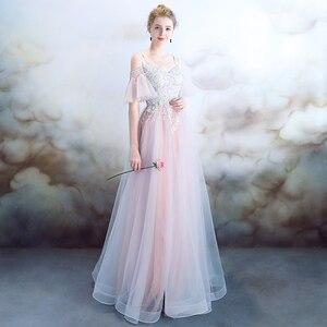 Vestido de fiesta de cumpleaños bordado de alta costura Rosa Sommerkleid elegante princesa anfitrión temperamento Dames Jurken A2033