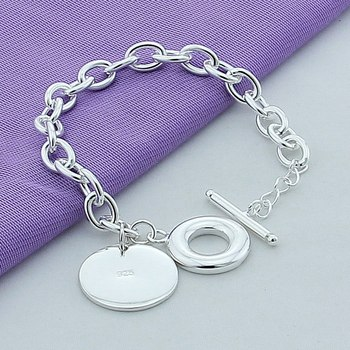 Luxury Brand 925 Silver Bracelet Sterling Silver 925 Jewelry Female Round Bracelet Top Quality for Male lukeni latest female heart bracelets jewelry top quality silver 925 sterling silver anklets for women party accessories lady