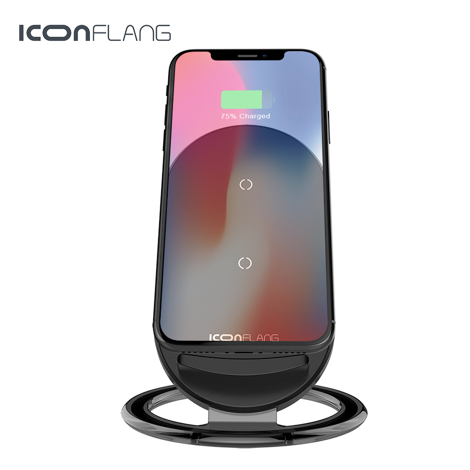 Qi Wireless Charger For iPhone X 8 For Samsung Note 8 S8 Plus S7 S6 Edge Phone Fast Wireless Charging Docking Dock Station