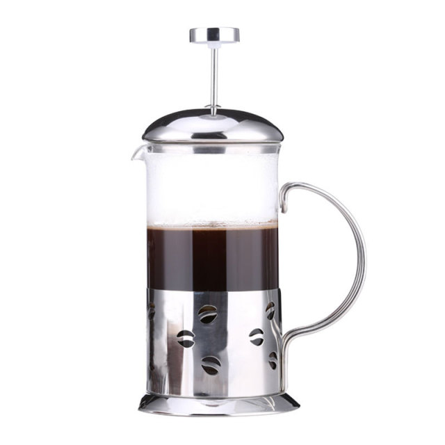 French Press Coffee Tea Maker 12oz Best Pot With Stainless Steel Double Gl