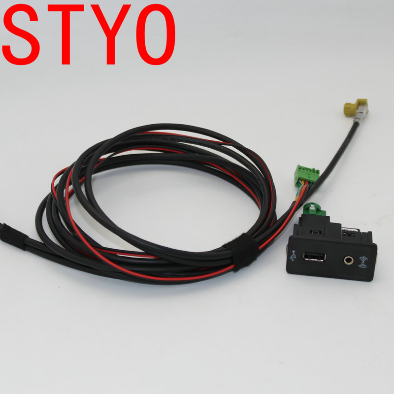 STYO Car Carplay Cap Socket With Wire/Cable/Harness MDI <font><b>USB</b></font> AMI For <font><b>VW</b></font> <font><b>Golf</b></font> <font><b>7</b></font> MK7 image