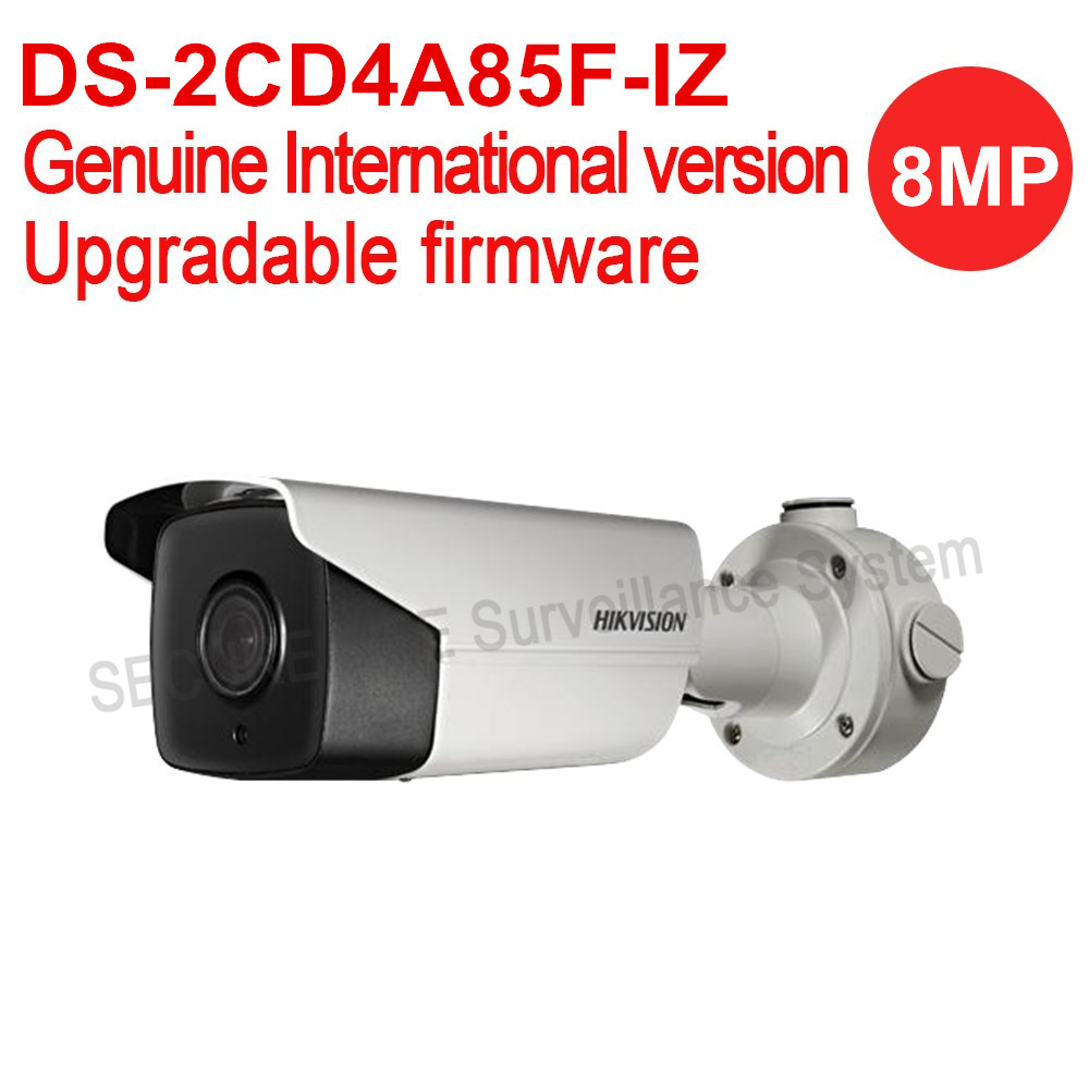 In stock Free shipping English version DS-2CD4A85F-IZ 4K smart network bullet cctv camera POE Motorized lens, smart focus 50m IR free shipping in stock new arrival english version ds 2cd2142fwd iws 4mp wdr fixed dome with wifi network camera