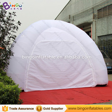 6 Meters all white color inflatable spider tent hot sale customized blow up tent with air blower for event toys