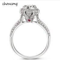 Роскошные 100% из настоящего чистого серебра кольцо инкрустация кольцо с натуральными камнями комплект 5,5 мм 1.2ct CZ Diamant Обручение обручальное