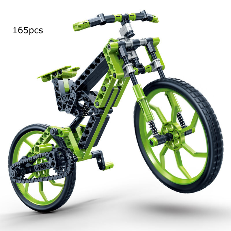 165pcs High Tech  Assembled Building Blocks Mountain Bike ABS Plastic Pinlocked Parents assemblage self-locking brick toys high tech and fashion electric product shell plastic mold