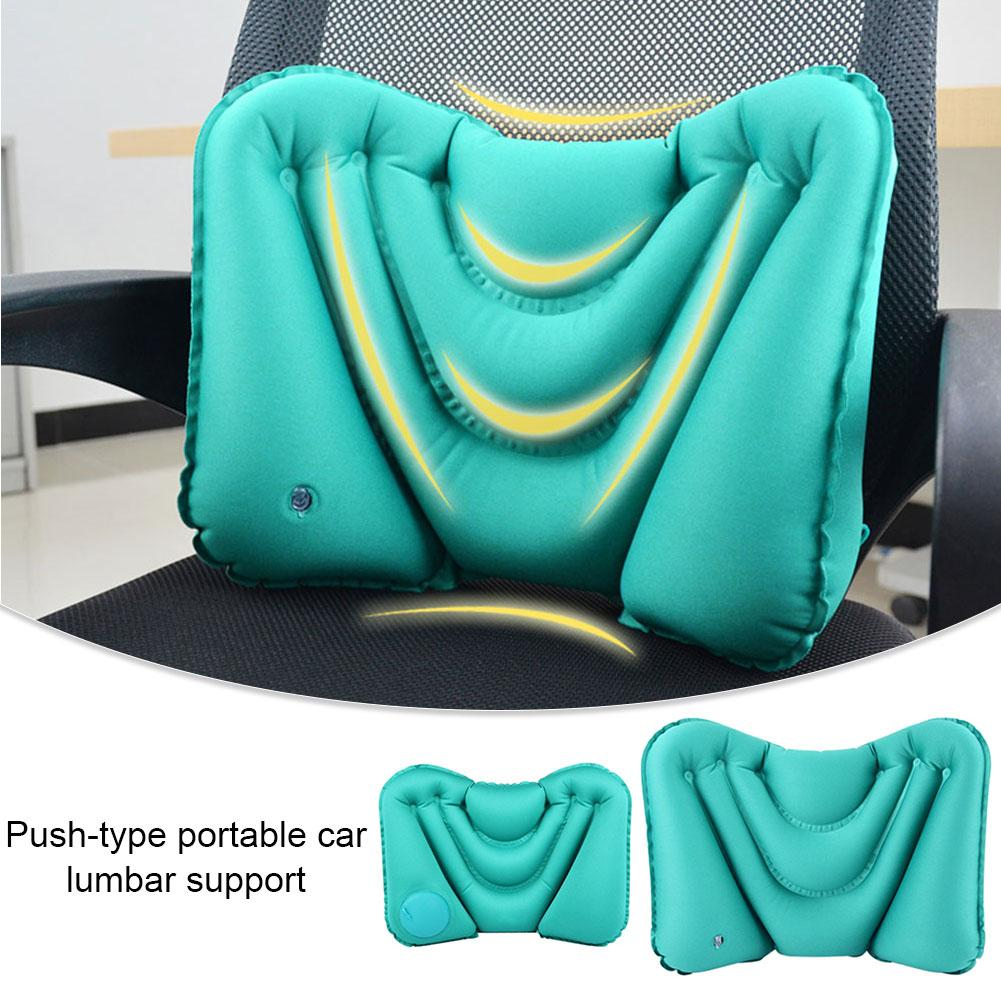 Inflatable Pillow Soft Portable Travel Air Pillow For Outdoor Camp Sport Hiking Backpacking Sleep Car Airplane Lumbar Support
