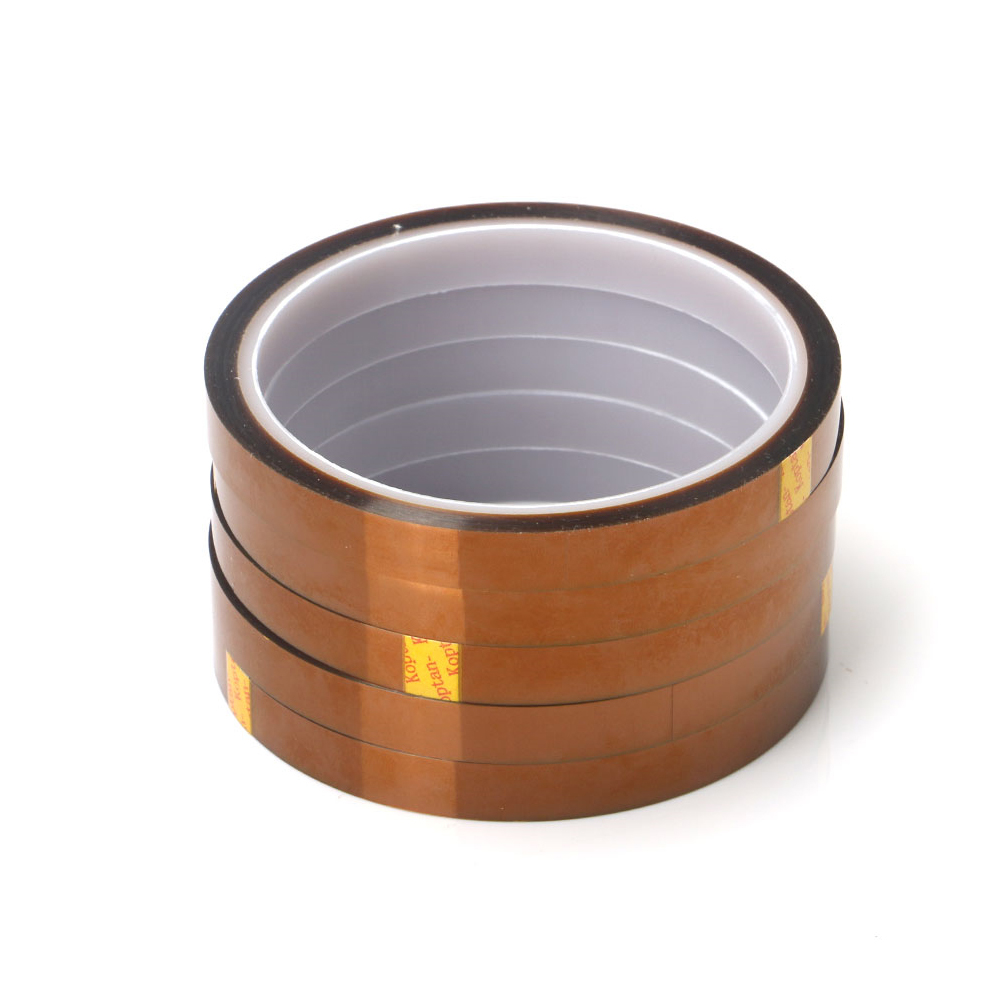 1 Piece Width 10/12/15/18/20/25/30mm Length 30M Kapton-Type Heat Resistant High Temperature Polyimide Adhesive Tape Insulation
