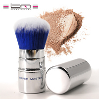 Brush Master Retractable Kabuki Makeup Brush Blush Foundation Powder Brush Synthetic Fiber Hair Sliver Travel Cosmetic